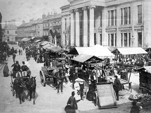 Markets, Macclesfield, 1890's
