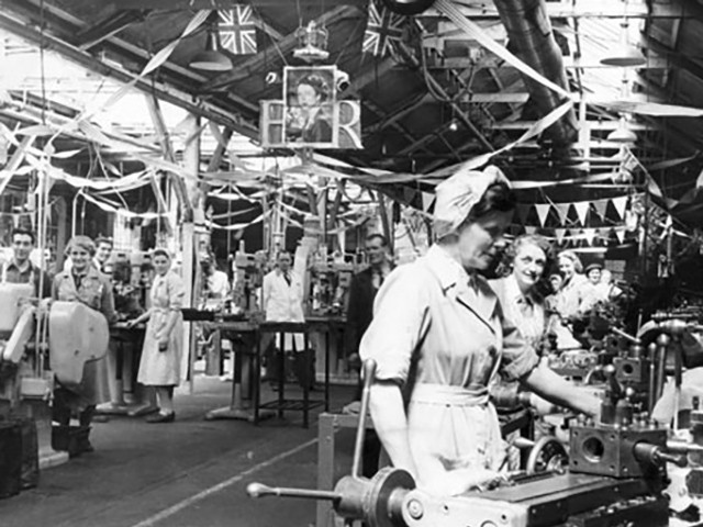 Factory workers, Chester, 1950's