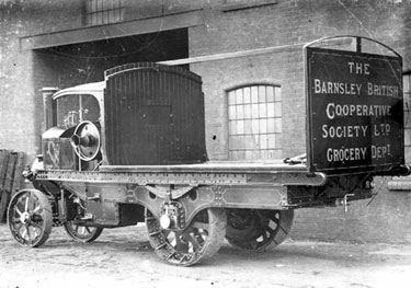 Foden: Steam wagon for Barnsley Co-op