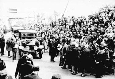 Widnes: Visit of King George V  in 1925