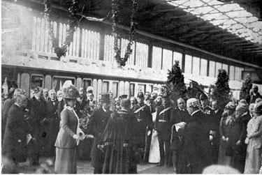 Crewe: Visit by King George V and Queen Mary