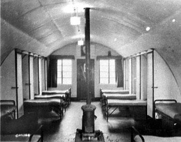 Burtonwood Airfield: Hut interior