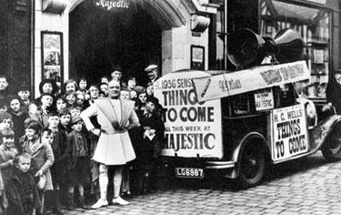 Macclesfield: Publicity for the Majestic Cinema