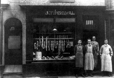 Runcorn: J T Percival's Butcher's Shop
