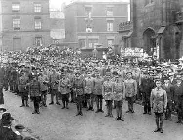 Runcorn: Church Parade, Cheshire Volunteer Regiment