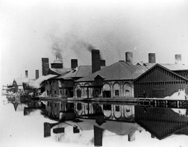 Winsford: Joseph Verdin and Sons salt works at Newbridge on the River Weaver