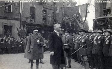 Nantwich: Prince of Wales visits Nantwich