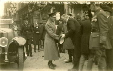 Nantwich: Prince of Wales's visit to Nantwich