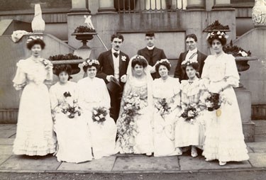 Place unknown: Unidentified wedding party