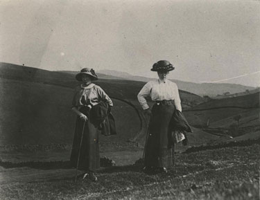 Place unknown: ladies on a hilltop