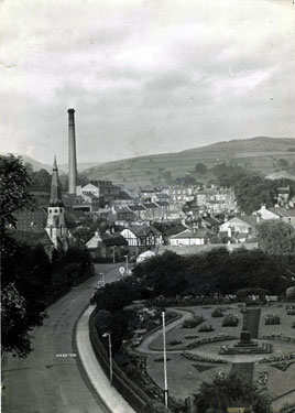 Bollington: view over the town