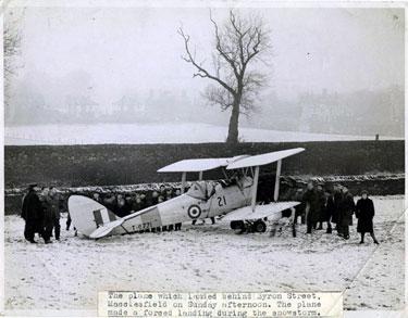 Macclesfield: Emergency landing