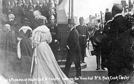 Chester: visit of the Prince and Princess of Wales
