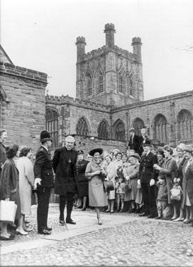 Chester: Cathedral, visit of Princess Margaret