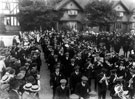 View: c00711 Port Sunlight: Men Enlisting for the Front