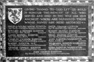 View: c01120 Chester Cathedral: The Egerton Memorial Tablet