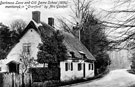 View: c04149 Knutsford: Darkness Lane and Old Dame School 1850 - mentioned in 'Cranford' by Mrs Gaskell