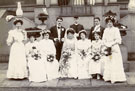 View: c08733 Place unknown: Unidentified wedding party