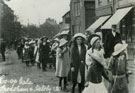 View: c12735 Frodsham: Co-op Gala procession, Church Street