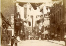 View: c13429 Macclesfield: Mill Street, Queen Victoria's Jubilee Day