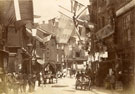 View: c13430 Macclesfield: Mill Street, Queen Victoria's Jubilee Day