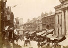View: c13432 Macclesfield: Market Place, Queen Victoria's Jubilee Day