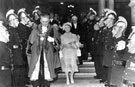 View: ch4330 Chester: Town Hall, visit of the Queen Mother